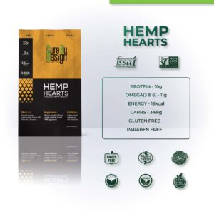 Hemp Hearts – Hulled Hemp Seeds – 500G