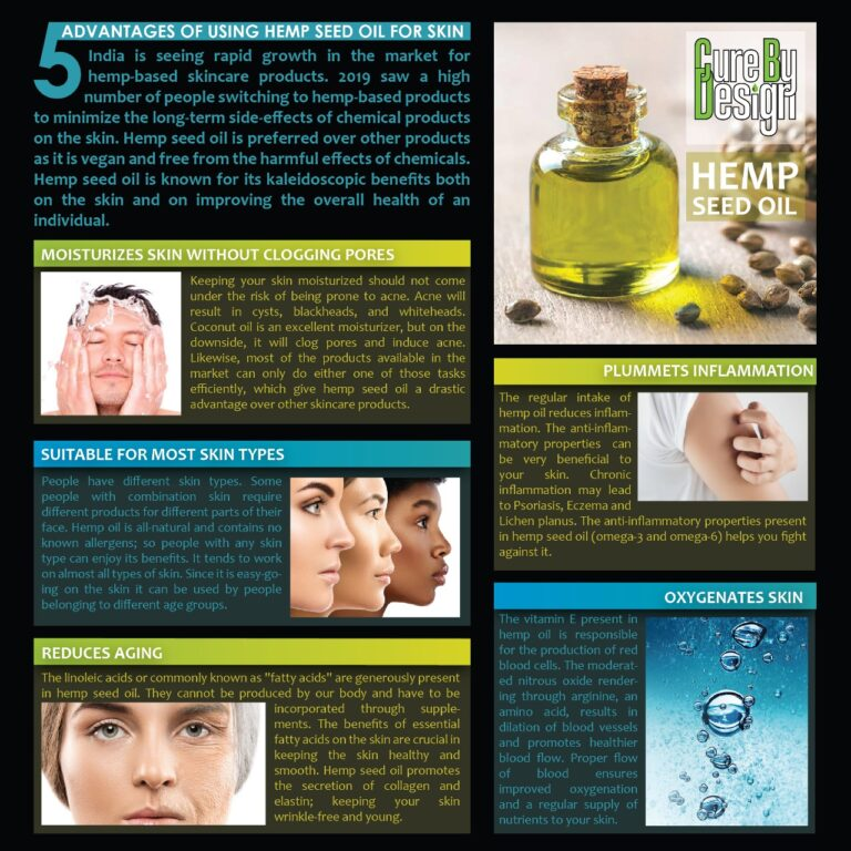 5 Advantages of Using Hemp Seed Oil for Your Skin