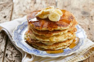 Hemp Banana Pancakes