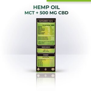 Hemp Oil for Pets with 500mg CBD (MCT)